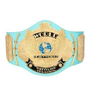 Official Licensed Hulk Hogan WWE Replica Signed Blue Winged EagleTitle Belt