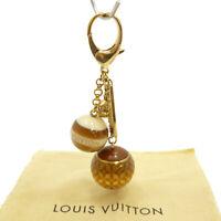 Authentic LOUIS VUITTON Bijoux Sac Mini Lin Bag Charm Key Ring M65699 #S311009