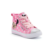 Disney Junior Minnie Mouse Girls' Toddler High Top Canvas Sneaker Size 10