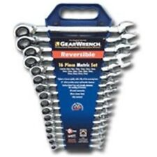 Gearwrench 16 Pc Metric Reversible Combination Ratcheting Wrench Set 9602 N