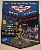SHAWNEE LODGE 51 GREATER ST LOUIS AREA MO OA 100TH 2015 CENTENNIAL NOAC 2-PATCH