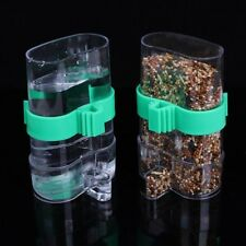 Bird Feeder Food Water Feeding Automatic Drinker Parrot Pet Dispenser Cage Clip