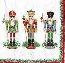 Christmas Paper Napkins Caspari 20 pack Nutcracker Parade White