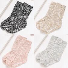 Children's Soft Cotton Slub Yarn Socks Winter Warm Knit Thick Anti-Slip Socks