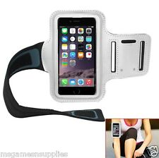 Armband WHITE iPhone 5 SE 5S 5C 6 6S Running Sports Gym & Screen Guard NEOPRENE