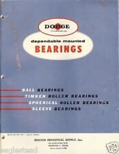 Equipment Catalog - Dodge Bearings - Timken - Kreiter Supply Houston TX (E1763)