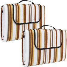 2x Colchón manta de picnic viaje camping 200x150 fondo hidrófugo acampada beig