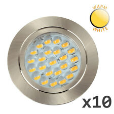 10 x 12V Recessed LED Caravan Motorhome Boat Spot Lights Downlights Warm White
