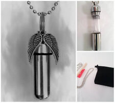 Beautiful Spread Angel Wings CREMATION URN with Necklace, Velvet Pouch, Fill Kit