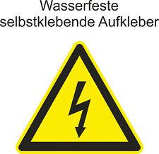 Hinweiß Aufkleber Warnung high voltage Hochspannug Gefahr Sticker ab 5cm Uv fest