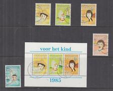 NETHERLANDS ANTILLES, 1985 Child Welfare Fund set of 5 & Souvenir Sheet, used.