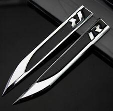 2pcs Auto Metall Schriftzug Aufkleber Emblem für Dolch R R-line Racing schwarz