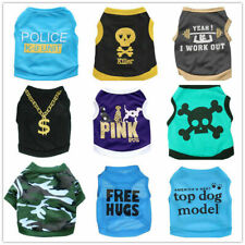 9 PCS Lot Boy Dog Clothes Shirt Male Cat Puppy Vest Small Medium Pets Wholesale