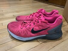 Nike Lunarglide 6 Neon Pink Athletic Sneakers Shoes Women's Size: 7.5 654434