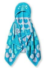 Shopkins Bath Towel For Girls Toddlers Hooded Little Girl Wrap Hearts Fun Blue