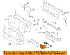 TOYOTA OEM 12-17 Prius C Rear Seat-Cushion Shield Right 5816552030C0