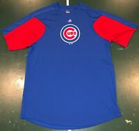 Chicago Cubs Majestic Dry Fit T Shirt Short Sleeve Blue Mens Size Large Used