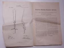 Pre-1919 Patent Notice GL Hart Carving Fork #179916 1876 JD Frary Ephemera L926C