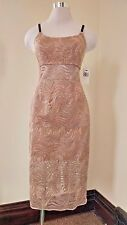 ABS Collection Womens Dress Size 2 Spaghetti Strap Swirl Lined Evening Cocktail