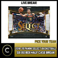 2018-19 PANINI SELECT BASKETBALL 6 BOX (HALF CASE) BREAK #B164 - PICK YOUR TEAM