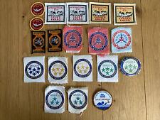 More details for 19 vintage cloth swimming badges