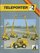 Fork Lift Truck Brochure - Sanderson - Teleporter 2 series - c1988 (Lt506)