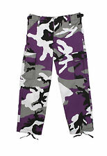 Rothco 66107 Kid's BDU Pants - Ultra Violet Camo