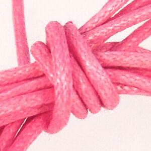 Waxed Cotton Cord 0.5mm Pink - Reel of 100 metres