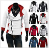 Cool Men Stylish Creed Hoodie Coat Cosplay For Assassins Jacket Costume Coat New