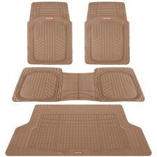 4 PC Car Floor Mats Motor Trend Beige Odorless Trimmable Deep Dish + Cargo Liner