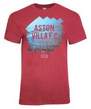 Para Hombre Medio Aston Villa FC Cotton T Shirt Top fútbol Borgoña