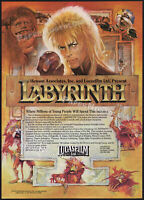 LABYRINTH__Original 1986 Trade AD / poster__LUCASFILM__DAVID BOWIE__JIM HENSON