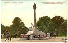 OLD PHOTO POSTCARD Phoenix Column Dublin Ireland Horses
