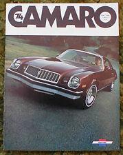 1974 Chevrolet Camaro Z28 catalog Brochure 74