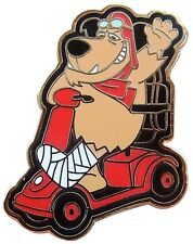 POOR BROKEN LEG MUTTLEY MOBILITY SCOOTER PIN BADGE WHEELCHAIR QUINGO SHOPRIDER