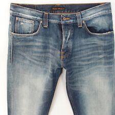 Mens Nudie AVERAGE JOE Straight Blue Jeans W36 L34