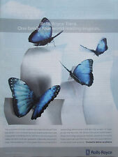 12/2003 PUB ROLLS-ROYCE TRENT ENGINE BOEING AIRBUS PAPILLON MORPHO BUTTERFLY AD