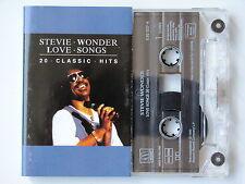 STEVIE WONDER . LOVE SONGS 20 CLASSIC HITS . TAPE . CASSETTE AUDIO . K7