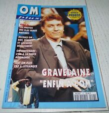 FOOTBALL OM PLUS N°218 1996 OLYMPIQUE MARSEILLE GRAVELAINE PEDROS ROY LETCHKOV
