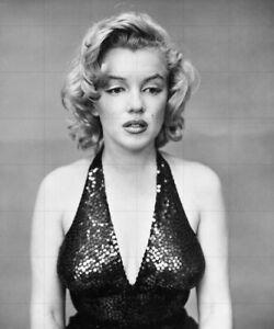 "MARILYN MONROE - 10"" x 8"" b/w studio portrait photograph circa mid 1950s"