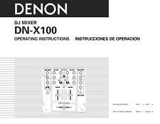 Denon DN-X100 DJ Mixer Owners Manual