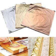 300 sheets 14x14cm Imitation Gold+Silver+Copper Leaf Gilding Art Craft DIY