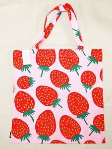 Marimekko cotton bag 44x43cm, Pieni Mansikka pink