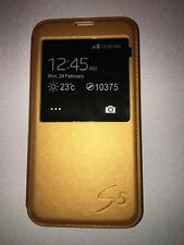 Samsung S5 Phone Case - Gold Smart Case
