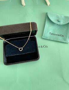 Tiffany & Co Metro Heart 18RG Diamond Pendant Necklace RARE RRP$2650