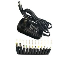 AC 100-240V to DC 12V 2A Power Supply Adapter with 12 Selectable DC Adapter Tips