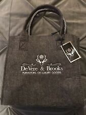 Large Luxury Strong Hamper Bag De Vere & Brooks Grey Felt Reusable Bnwt