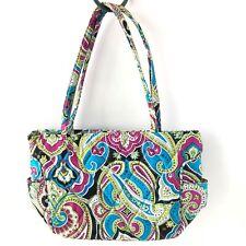 Vera Bradley Silk Paisley Handbag Purse - Turquoise & Pink - Limited Edition!