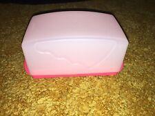 TUPPERWARE Impressions Butter Dish SeRver Cover-Guava Red- 4 Sticks-1 Lb New