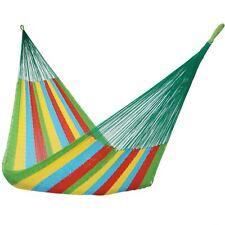 Sunnydaze Multicolor Portable Handwoven Double Size 2-Person Mayan Hammock Bed
